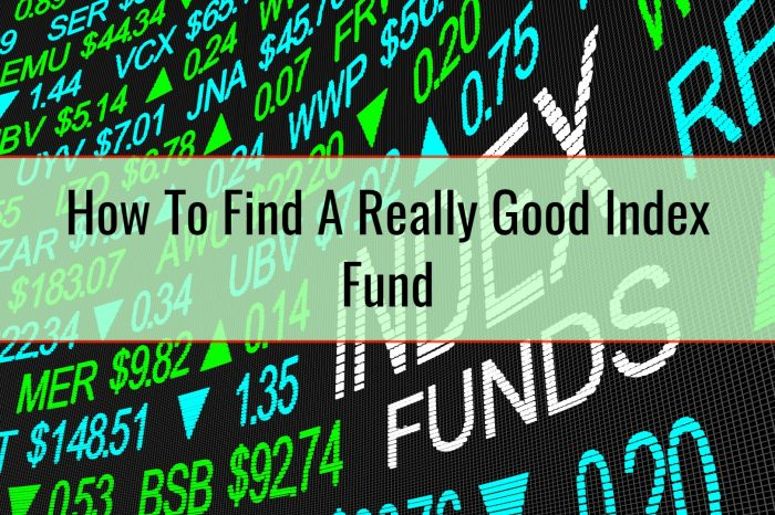 How To Find A Really Good Index Fund